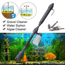 Pulitore Acquario Elettrico Pulizia Sabbia Pompa Filtro Cambio d'acqua Per Pesci
