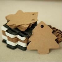 DIY Kraft Paper Christmas Tree Tags Hanging Paper Gift Cards Wedding Party Favor