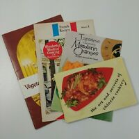 4 Vintage World Cooking Cook Booklets Chinese Japanese French Vegetable Protein