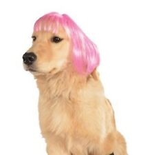 Rubie's Wig For Pets Hot Pink Short Bob Medium to Large