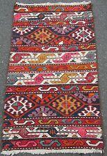 Attrayant Coloré turc Caucase kurde soumac Sumak Kilim Kelim Rug