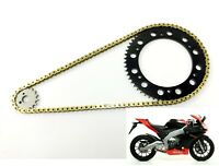 Aprilia 125 RS4  Heavy Duty Chain and Sprocket Kit GOLD '11-16 models