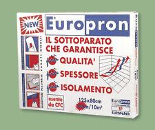 EUROPRON - PANNELLI SPESSORE 4 MM FONOASSORBENTI ISOLANTI SOTTOPARATI ESTRUSO