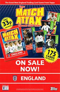 MATCH ATTAX - England 2006 - Shop Display Poster - Topps World Cup 06