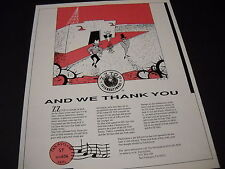 ZZ TOP And We Thank You clever 1987 PROMO DISPLAY AD mint condition