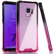 For Samsung Galaxy S9 Case Clear Gradient Shock Proof Flexible TPU Bumper Cover
