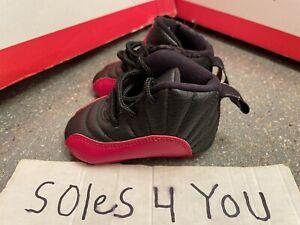 Nike Air Jordan 12 XII Retro Flu Game Red Black 378139-002 Size 1c