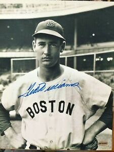 (END OF SUMMER SALE) Ted Williams Autograph 8x10 Black & White Photo w/coa