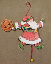 Mary Engelbreit Santa Claus Pull String Toy Ornament 7""