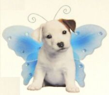 """JACK RUSSELL Puppy Decal-Wings By Keith Kimberlin one 5""""x5"""" Sticker"""