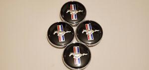 4x 60mm Wheel Rim Rims Center Hub Cap For Ford Mustang Running Horse 3D Logo