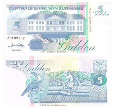 Suriname 5 Gulden 1996 P-136b Banknotes UNC