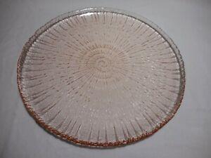 "Pink Spiral ARCOROC Luncheon Salad Plate  7 1/2""  Textured bottom Rose Ice"