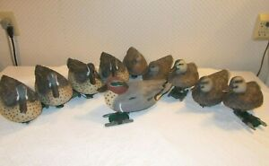 10--Life Sized Teal/Green Drake & Hen Duck Decoy GHG Avery Outdoors SOME w/Weigh