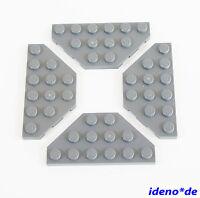 LEGO STAR WARS Básico construcción 4 unidades Placa Ala 3 x 6 NUEVO GRIS OSCURO