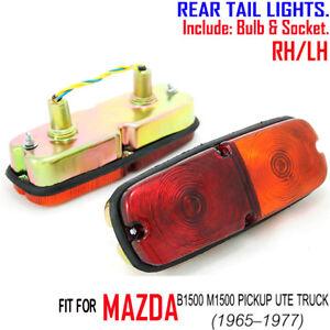 FOR MAZDA B1500 UTE PICKUP TRUCK 1965-1977 PAIR RH LH TAIL LIGHTS LAMP