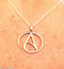 "Atheist Pendant Circle ""A"" Solid 316L Stainless Steel (Necklace not included)"