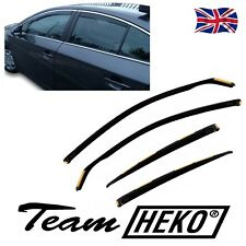 TOYOTA AVENSIS mk3 4DOOR SALOON 2008-15 WIND DEFLECTORS 4pc HEKO TINTED