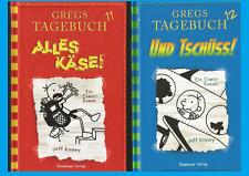 2 x Gregs Tagebuch von Jeff Kinney. Band 11+12: Alles Käse! + Und Tschüss! NEU!