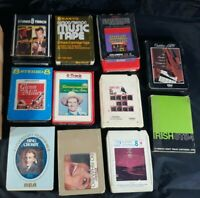 Lot of 11 Vintage 8 Track Tapes Cartridges Various Artists