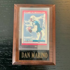 DAN MARINO #13 Mounted & Sealed NFL CARD PLAQUE-VERY RARE-GOOD CONDITION