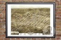 Vintage Raleigh, NC Map 1872 - Historic North Carolina Art - Old Industrial
