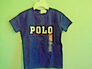 """NWT Polo Ralph Lauren IB SS Newport navy T-shirt with """"POLO"""" in white size 9 m"""