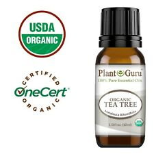 Organic Tea Tree Essential Oil 10 ml. USDA Certified Therapeutic Grade 100% Pure