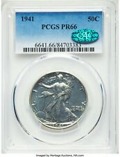 1941 Walking Liberty Half PCGS PROOF-66 CAC - 100% WHITE - ucx