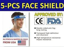 5 PCS Full Face Shield Clear Protector Work Industry Dental Anti-Fog Reusable