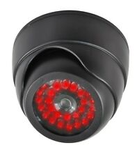 Indoor Dummy Fake Dome Security Surveillance black Camera - 30 Illuminating LEDs