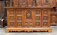 Large Oak Spanish Sideboard Buffet With Carved Panels Large Hardware