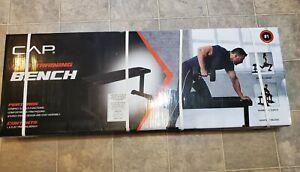 CAP FM703W Flat Strength Training Weight Bench - Black 500 lbs.