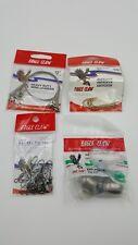 Eagle Claw Tackle Lot Wire Leaders Egg Sinkers S7 Barrel Swivel 1/0 Hook Fishing
