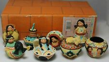 """New ListingFriends of the Feather """"Decorative Mini Pots"""" Set of 8 Pots in Box 267848. New."""