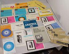 Vintage Camera Accessory Manuals Large Lot #11