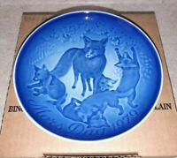 Bing & Grondahl 1979 MOTHERS DAY PLATE Mother Fox With Pups Mors Dag Porcelain