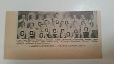 Cameron Agricultural College OK  & Midland College NE 1929 Football Team Picture