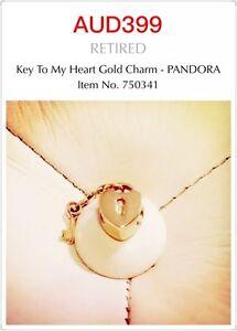 Genuine Pandora 14ct Gold Charm - Key to my Heart, 750341