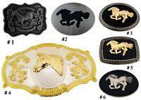 Horse Belt Buckle Western Cowgirl Rodeo Costume Men Women Large Fashion Cowboy