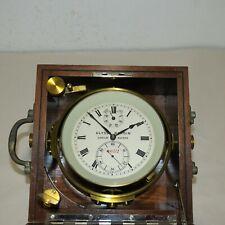 Ulysse Nardin Marine Chronometer Nautical Box 4052 Ship Clock Roman Numerals