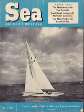 Sea And Pacific Motor Boat March 1955 Six Meter Glass 042817nonDBE