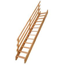 DOLLE Raumspartreppe Holztreppe Fichte Buche Innentreppe gerade mit Geländer