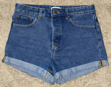 Forever 21 High Waisted Cuffed Denim Shorts Size 26
