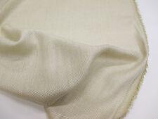 Beige with Gold tint Elegant & Soft Wool & Viscose Scarf/Dress Fabric.