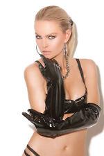 Long Black Vinyl Gloves, PVC, Shiny, Fetish, Kinky, Dominatrix, Mistress, Sexy