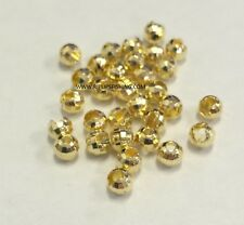 "TUNGSTEN SLOTTED DISCO FLY TYING BEADS GOLD 2.0 MM 5/64 "" 100 COUNT"