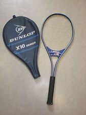 DUNLOP X10 Senior L3 Alu Tennisschläger Racket Racquet + Hülle Vintage Retro