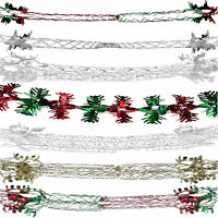 CHRISTMAS DECORATIONS FOIL GARLANDS CEILING DECORATION XMAS GARLAND 2.7M DECS