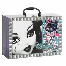 Monster High Travel Salon Case Nail Dryer Art Mani-Pedi Set Glitter Decals